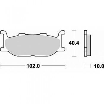 Колодки тормозные дисковые Braking 750SM1