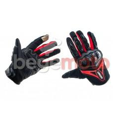 """Перчатки """"SUOMY"""" черные/красные (текстиль)"""