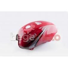 Топливный бак Yamaha YBR-125 CN красный
