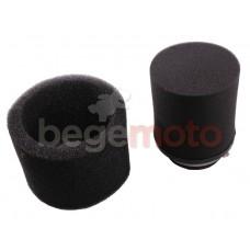 Фильтр нулевого сопротивления 38мм черный (поролон)