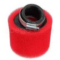 Фильтр нулевого сопротивления 42мм/45 градусов питбайк красный (поролон) Kayo/Pitbike