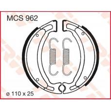 Колодки тормозные барабанные Yamaha Jog TRW LUCAS MCS962 105х25мм