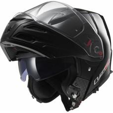 Шлем LS2 FF324 Metro Single модуляр (с очками) черный глянец