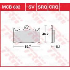 Колодки тормозные дисковые LUCAS MCB602SV