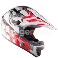 Шлем кроссовый LS2 MX433.92 STRIPE белый/красный