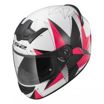 Шлем LS2 FF352 ROOKIE Brilliant белый/розовый