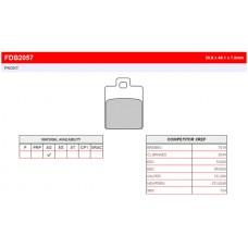 Колодки тормозные дисковые FERODO FDB2057EF
