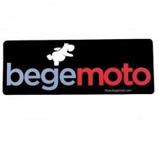 """Наклейка """"Begemoto"""" большая черная #3"""
