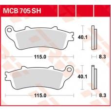 Колодки тормозные дисковые LUCAS MCB705SH