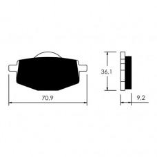 Колодки тормозные дисковые VICMA Y215