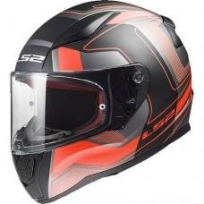 Шлем LS2 FF353 RAPID CARRERA HI-VIS черный/красный/серый
