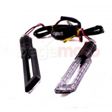 Поворотники светодиодные прямоугольные с прорезью (прозрачное стекло)