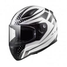 Шлем LS2 FF353 RAPID CARBORACE белый/черный глянцевый