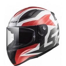 Шлем LS2 FF353 RAPID GRID белый/красный глянцевый