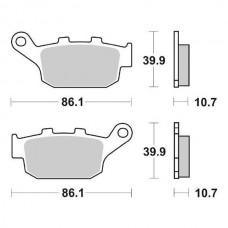 Колодки тормозные дисковые BREMBO 07HO2711