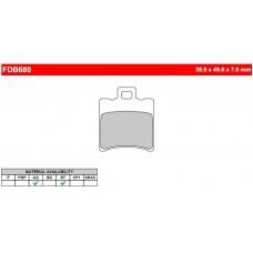 Колодки тормозные дисковые FERODO FDB680EF
