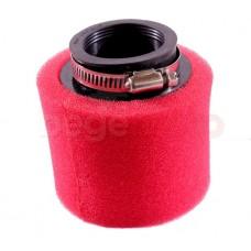 Фильтр нулевого сопротивления 38мм питбайк красный (поролон) Kayo/Pitbike
