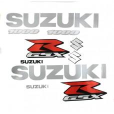 Набор светоотражающих наклеек SUZUKI GSXR1000 (A4, Transfer Sticker)