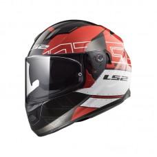 Шлем LS2 FF320 Stream Evo Kub интеграл (с очками) черный/белый/красный