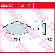 Колодки тормозные дисковые LUCAS MCB539