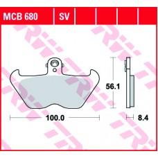 Колодки тормозные дисковые LUCAS MCB680SV