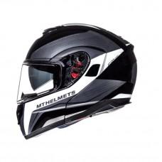Шлем MT Atom SV Tarmac Gloss Black/White