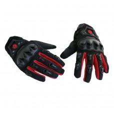 """Перчатки """"Scoyco """" черные/красные (текстиль)"""