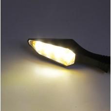 Поворотники светодиодные гибкие (длинные, черные) #6
