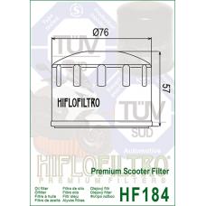Фильтр  масляный Hiflofiltro HF184