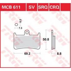 Колодки тормозные дисковые LUCAS MCB611SV