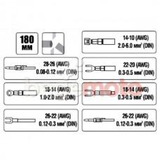 Клещи обжимные (0,08 - 5,0мм) INTERTOOL