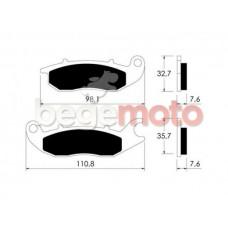 Колодки тормозные  дисковые VICMA P10766