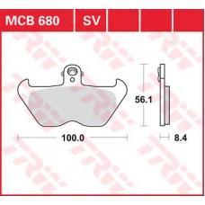 Колодки тормозные дисковые LUCAS MCB680