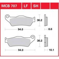 Колодки тормозные дисковые LUCAS MCB707