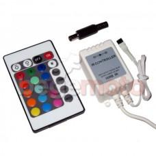 Контроллер (ИК) для RGB-ленты с пультом (24 кнопки)