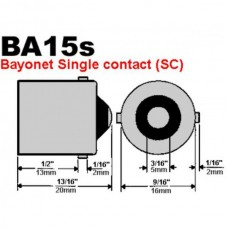 Лампа стоп сигнала, поворота светодиодная BA15S (P21W) 18SMD