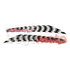"""Набор наклеек """"Racing"""" флаг"""