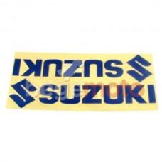 "Комплект наклеек ""SUZUKI"" светоотражающие синие (Transfer Sticker)"