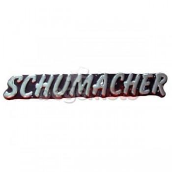 Наклейка Schumacher хром