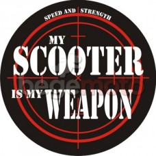 """Наклейка """"My scooter is my weapon"""""""