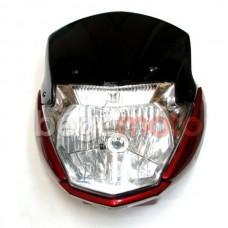 Лобовой обтекатель с фарой YBR-K-01 (красный)