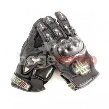 Перчатки защитные Pro-Biker & Monster Energy (черные)