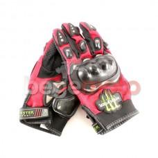 Перчатки защитные Pro-Biker & Monster Energy (красные)