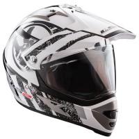 Шлем LS2 MX433 STRIPE ENDURO (со стеклом) белый/черный