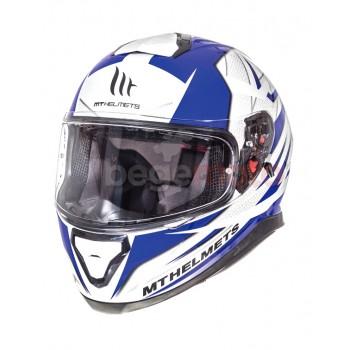 Шлем THUNDER 3 SV EFFECT GLOSS PEARL белый/синий