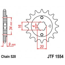 Звезда ведущая JTF1554 JT Sprockets