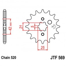 Звезда ведущая JTF569 JT Sprockets