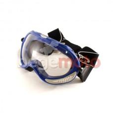 Очки горнолыжные VEGA MJ-13 (синие, прозрачное стекло)