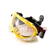 Очки горнолыжные VEGA MJ-13 (желтые, прозрачное стекло)