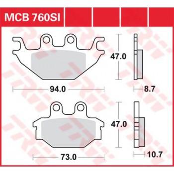 Колодки тормозные дисковые LUCAS MCB760SI